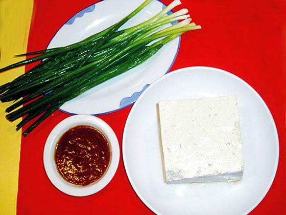 小葱 大豆腐 大酱
