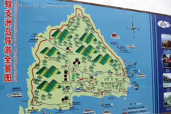 蜈支洲岛平面图